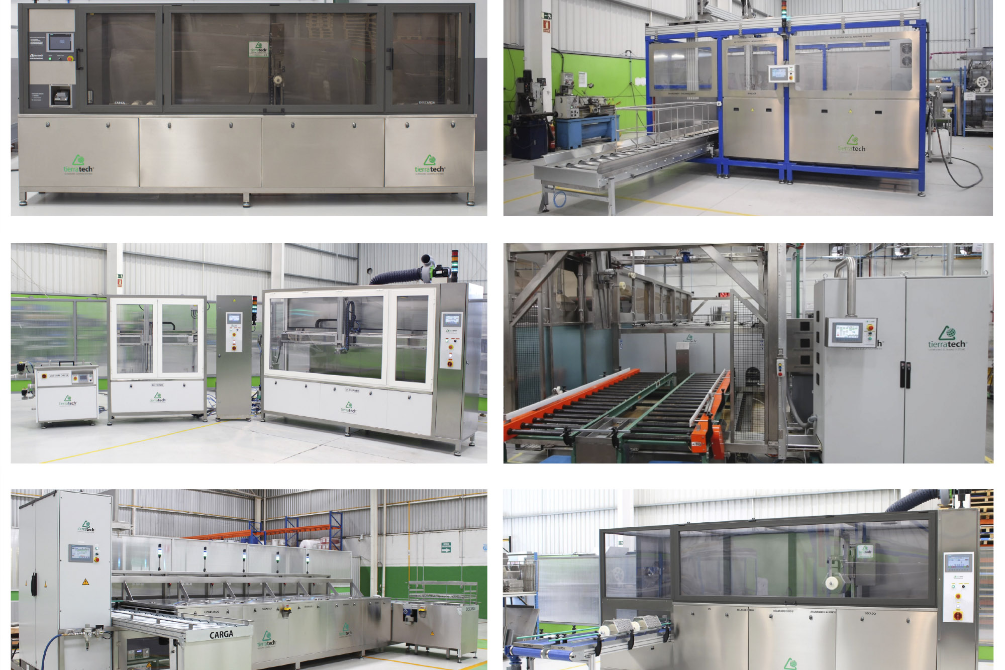Ultrasonic cleaning system with gantry crane: US+Hot Rinsing+Drying